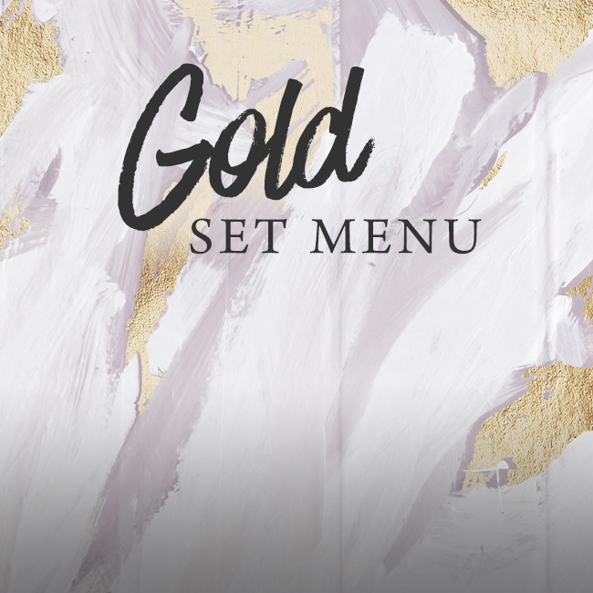 Gold set menu at The Bulls Head