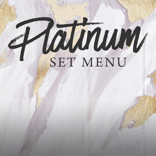 Platinum set menu at The Bulls Head