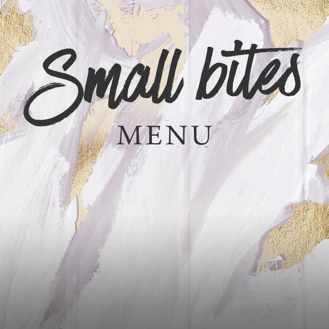 Small Bites menu at The Bulls Head