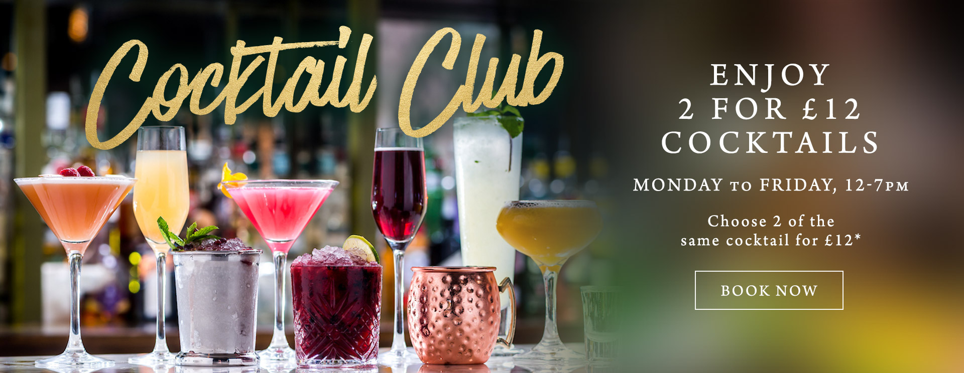 2 for £12 cocktails at The Bulls Head